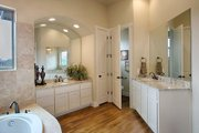 Mediterranean Style House Plan - 4 Beds 4 Baths 3069 Sq/Ft Plan #80-141 Interior - Master Bathroom