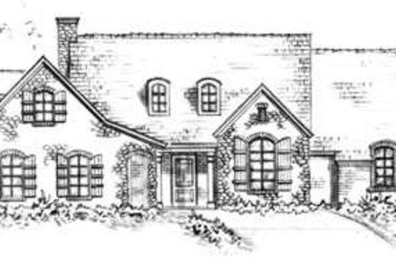 Cottage Exterior - Front Elevation Plan #410-140