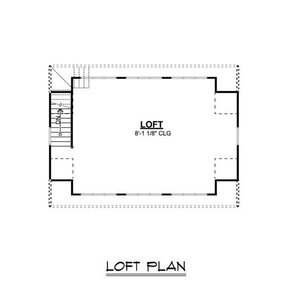 Country Floor Plan - Upper Floor Plan Plan #1064-58