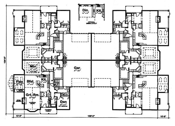 Ranch Floor Plan - Main Floor Plan Plan #20-2058