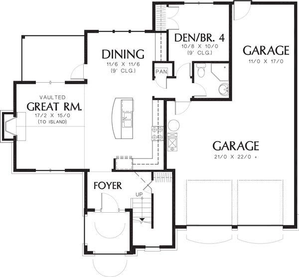 Traditional Floor Plan - Main Floor Plan Plan #48-172