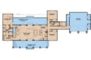 Country Style House Plan - 4 Beds 3 Baths 2765 Sq/Ft Plan #923-195 Floor Plan - Main Floor