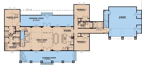 Home Plan - Country Floor Plan - Main Floor Plan #923-195