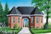 European Style House Plan - 2 Beds 1 Baths 1065 Sq/Ft Plan #23-159 Exterior - Front Elevation