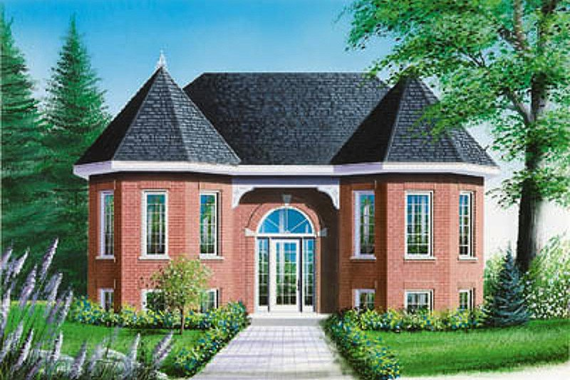 European Exterior - Front Elevation Plan #23-159