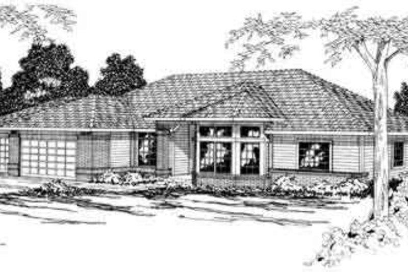 Modern Exterior - Front Elevation Plan #124-167