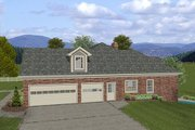 Traditional Style House Plan - 4 Beds 2.5 Baths 2000 Sq/Ft Plan #56-577 Exterior - Other Elevation
