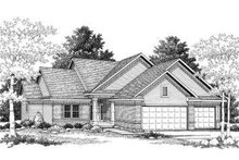 House Plan Design - Traditional Exterior - Front Elevation Plan #70-775