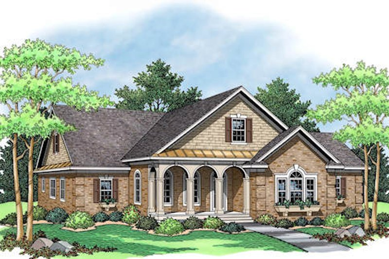 Traditional style Craftsman design elevation