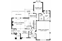 Craftsman Floor Plan - Main Floor Plan Plan #413-106