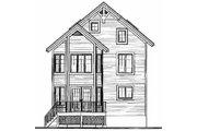 European Style House Plan - 4 Beds 2.5 Baths 2750 Sq/Ft Plan #23-2045 Exterior - Rear Elevation