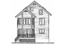 Home Plan - European Exterior - Rear Elevation Plan #23-2045