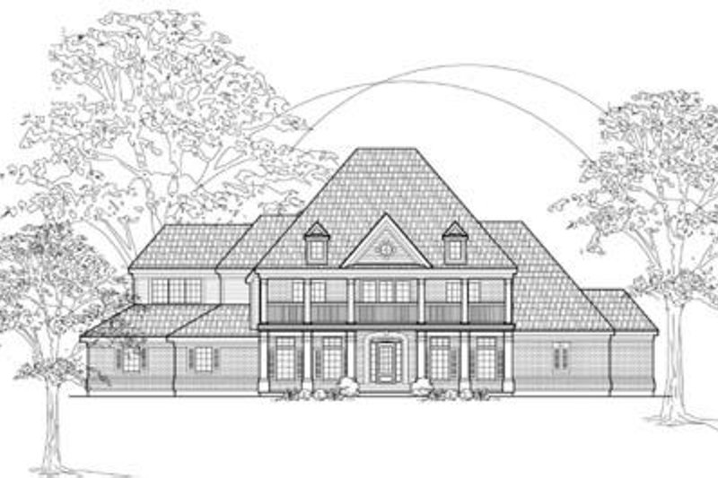 Southern Exterior - Front Elevation Plan #61-140
