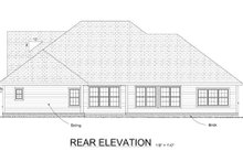 Home Plan Design - Country Exterior - Rear Elevation Plan #513-2042