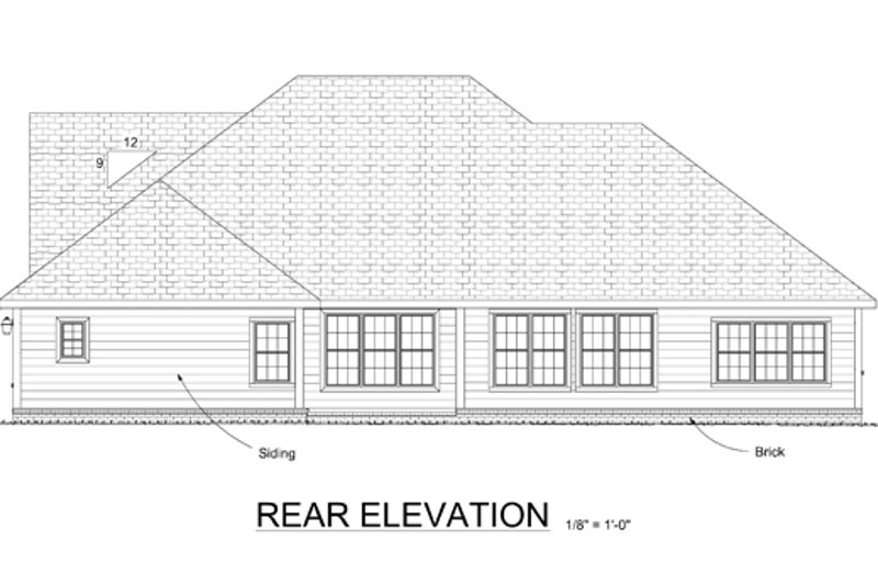 Country Exterior - Rear Elevation Plan #513-2042 - Houseplans.com