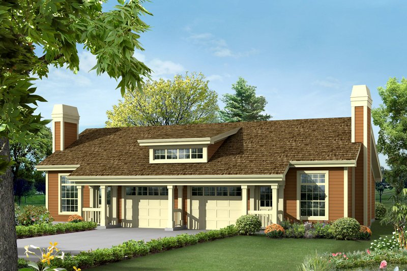 Craftsman Exterior - Front Elevation Plan #57-685