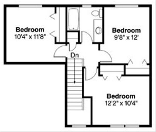 Farmhouse Floor Plan - Upper Floor Plan Plan #124-770