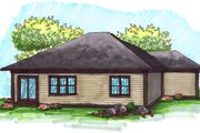 Ranch Style House Plan - 2 Beds 2 Baths 1367 Sq/Ft Plan #70-1020 Exterior - Rear Elevation