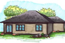 Dream House Plan - Ranch Exterior - Rear Elevation Plan #70-1020