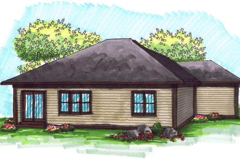Ranch Exterior - Rear Elevation Plan #70-1020 - Houseplans.com