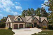 Cottage Style House Plan - 4 Beds 4 Baths 3123 Sq/Ft Plan #929-992 Exterior - Front Elevation