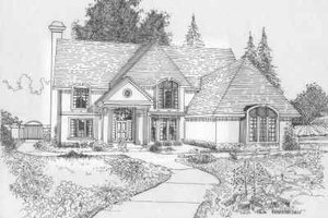 Traditional Exterior - Front Elevation Plan #6-123