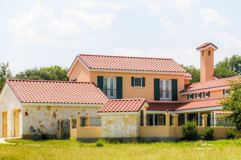 Dream House Plan - Mediterranean Exterior - Front Elevation Plan #80-154