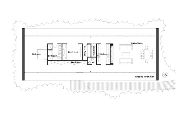 Modern Floor Plan - Main Floor Plan Plan #520-4