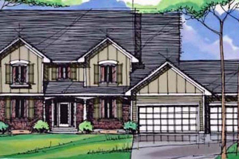 Traditional Exterior - Front Elevation Plan #51-404 - Houseplans.com
