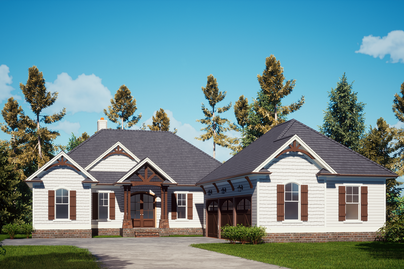 Dream House Plan - Craftsman Exterior - Front Elevation Plan #437-123