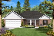 Traditional Style House Plan - 3 Beds 2 Baths 1400 Sq/Ft Plan #430-7 Exterior - Front Elevation