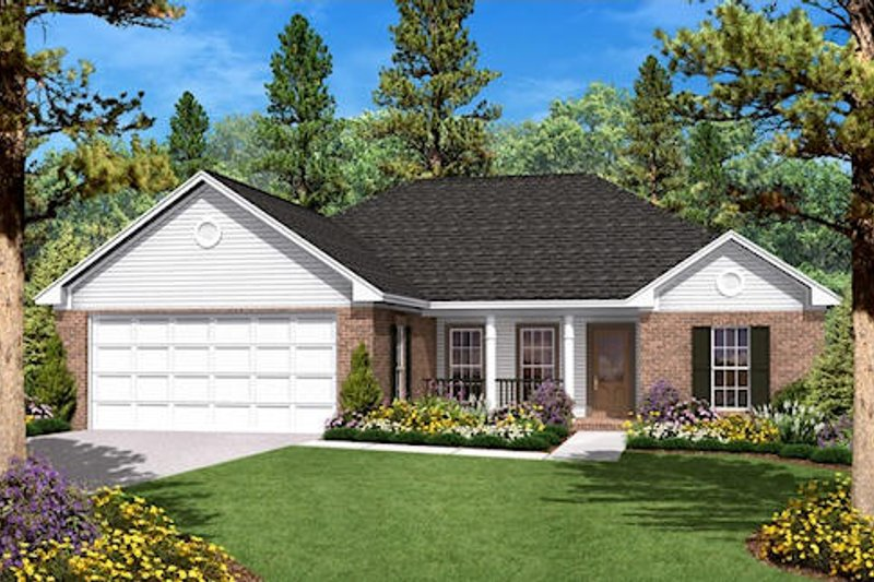 Traditional Exterior - Front Elevation Plan #430-7 - Houseplans.com
