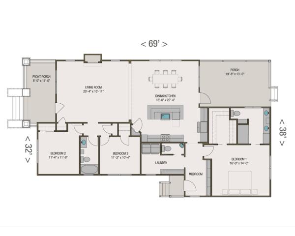 Craftsman Floor Plan - Main Floor Plan #461-53
