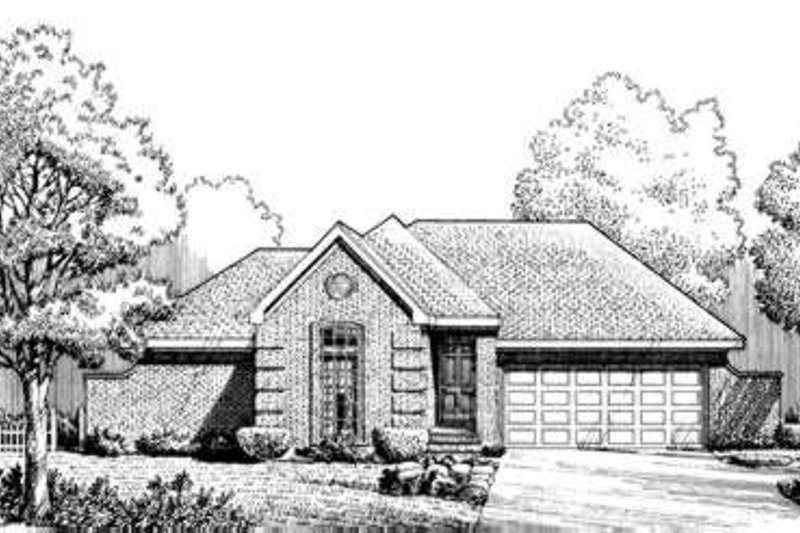 European Exterior - Front Elevation Plan #410-253