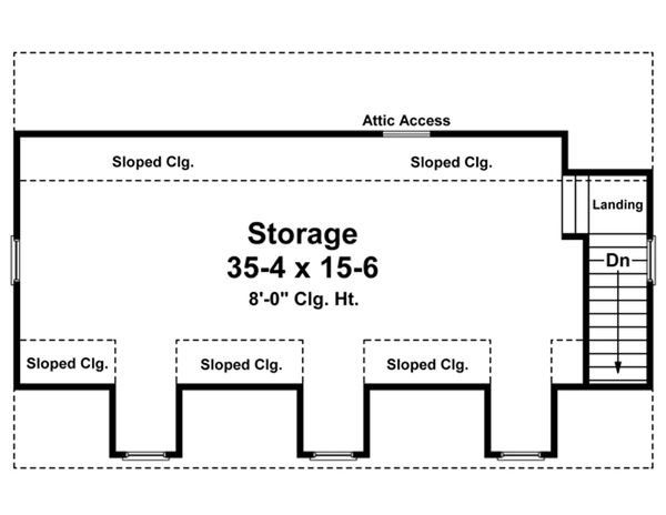 Home Plan - Traditional Floor Plan - Upper Floor Plan #21-337