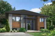 Contemporary Style House Plan - 3 Beds 1 Baths 1088 Sq/Ft Plan #25-4326 Exterior - Front Elevation