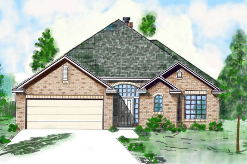 Traditional Style House Plan - 3 Beds 3 Baths 2361 Sq/Ft Plan #52-210 Exterior - Front Elevation