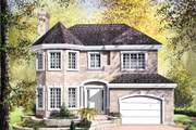 European Style House Plan - 4 Beds 1.5 Baths 2168 Sq/Ft Plan #25-2169 Exterior - Front Elevation