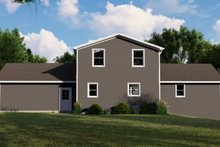 House Blueprint - Country Exterior - Rear Elevation Plan #1064-114