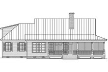 Country Exterior - Rear Elevation Plan #137-371