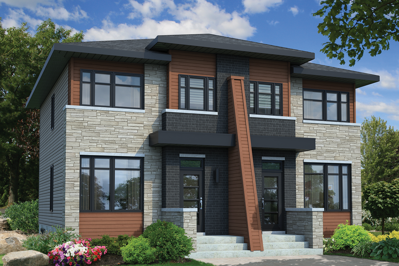House Plan - 5 Beds 2 Baths 2392 Sq/Ft Plan #25-4517 Exterior - Front Elevation