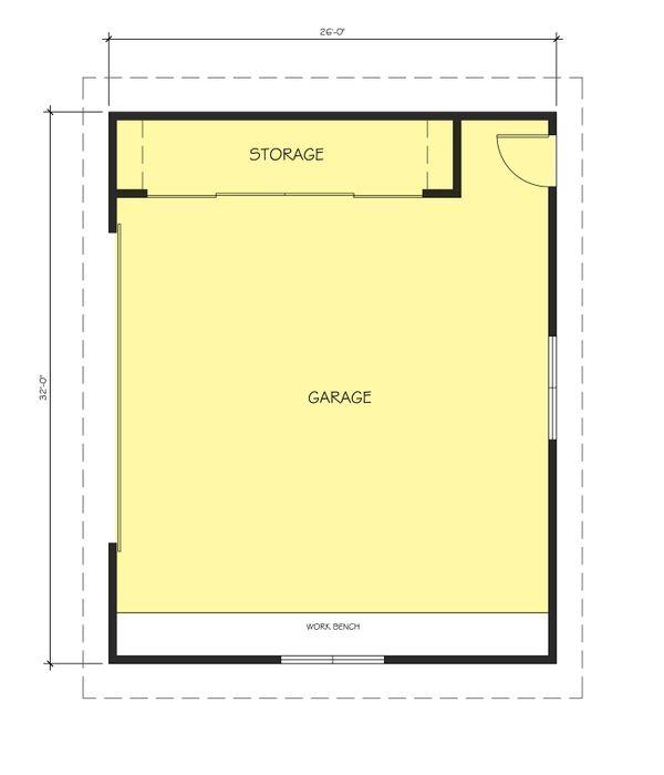 Ranch Floor Plan - Main Floor Plan Plan #888-14