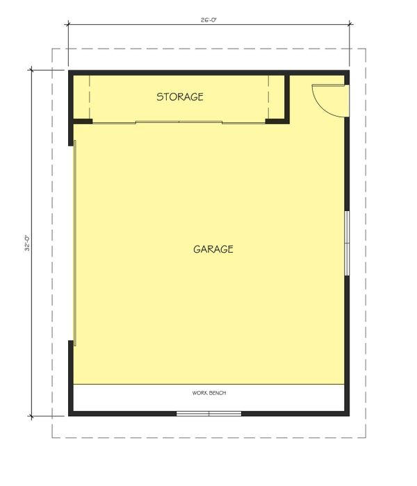 Ranch Floor Plan - Main Floor Plan Plan #888-14