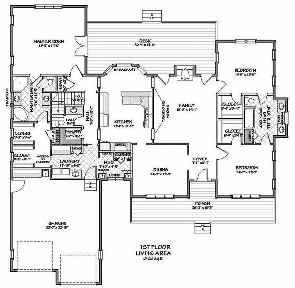 Traditional Floor Plan - Main Floor Plan Plan #898-3