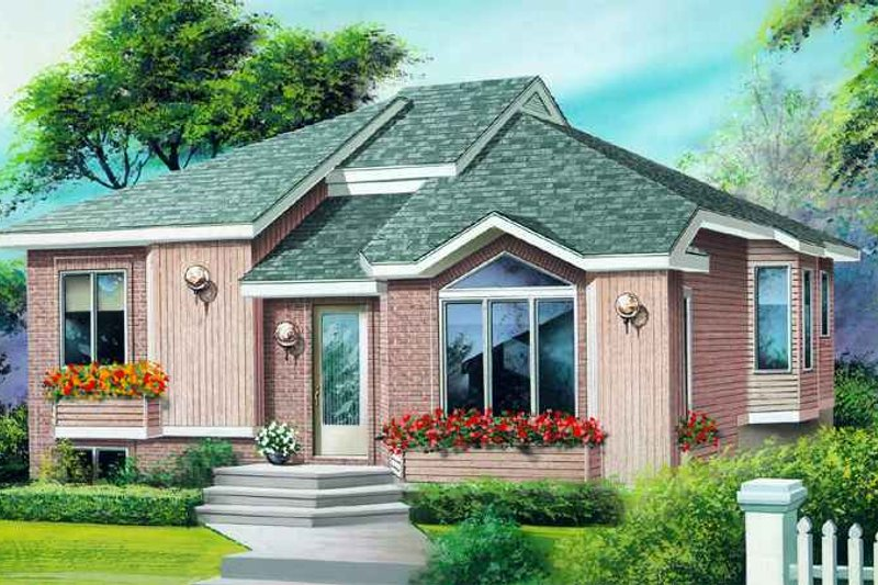 Traditional Style House Plan - 2 Beds 1 Baths 1005 Sq/Ft Plan #25-1153 Exterior - Front Elevation