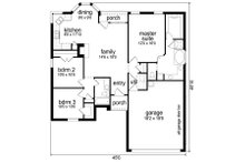 Traditional Floor Plan - Main Floor Plan Plan #84-542