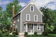 House Plan Design - Traditional Exterior - Rear Elevation Plan #48-965