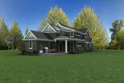 Craftsman Style House Plan - 4 Beds 3.5 Baths 3504 Sq/Ft Plan #48-1007 Exterior - Rear Elevation