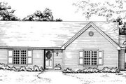 Traditional Style House Plan - 3 Beds 2 Baths 1389 Sq/Ft Plan #30-130 Exterior - Front Elevation