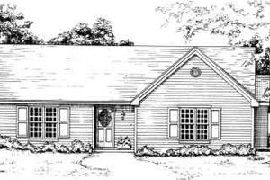 Traditional Exterior - Front Elevation Plan #30-130